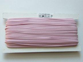 Klobouková guma 1 - 1,2 mm - růžová 3403 - 10 m