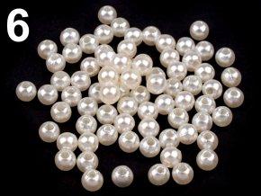 Korálky GLANCE plast kulička 8mm voskované, 5g, perlová