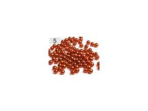 Korálky GLANCE plast kulička 6mm voskované, 5g, měděná