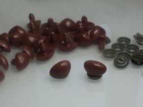 Čumáček plastový 20 mm + pojistka, hnědý, 23801