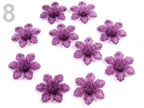 Květ plast  27 mm TRANSPARENT 200579 - fialová 8