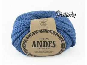 Příze Drops Andes uni colour 6295 - džínová modrá