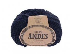 Příze Drops Andes uni colour 6990 - tmavá modrá
