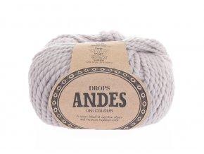 Příze Drops Andes uni colour 4010 - perlově šedá