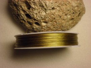 Nylonové lanko 0,45mm , zlatá, 70-80 m