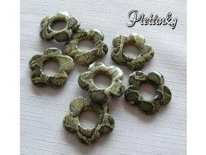 Korálky plast 32 mm květinka s potiskem 2