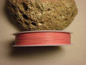 Nylonové lanko 0,45mm (metráž), červeno-růžová