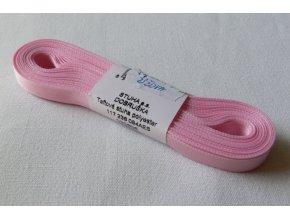 Stuha taftová 6 mm , světle růžová - 605
