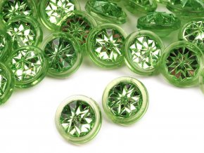 """Knoflík 20"""" - 4 zelená stepní, 120244"""
