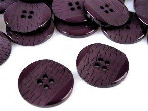 """Knoflík  velikost 40""""- 6 fialová lilková, 110818"""