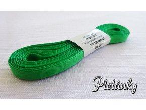 Stuha taftová 6 mm ,  zelená - 309