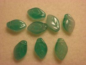 Ploché listy 8x12mm, bílá, zelená