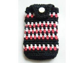 Obal na mobil bílá, červená, černá