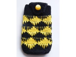 Obal na mobil, žluto-černý