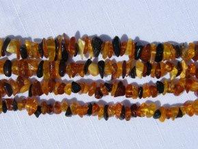 Jantar, zlomky, 5cm návleku, cca 1-2g