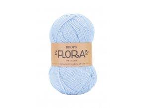 Příze DROPS Flora 14 - ledově modrá