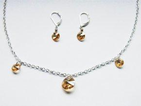 Souprava z Xilion přívěsků Swarovski, crystal golden shadow, 514