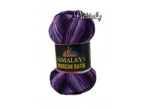 Příze Mercan batik 59507 - fialový melír