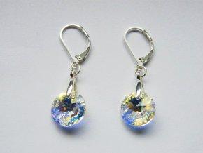Náušnice Xilion přívěsek Swarovski, crystal AB, 521