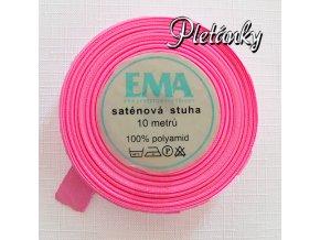 Stuha saténová 12 mm, 63 - růžová