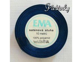 Stuha saténová 12 mm, 29 - tmavě modrá