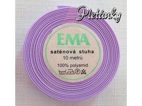 Stuha saténová 12 mm, 44/1 - světle fialová - lehce do růžova
