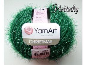 Příze Christmas 48 - tmavá zelená