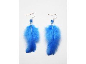 Peříčkové náušnice modré, 609