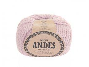 Příze Drops Andes uni colour 3145 - pudrově růžová