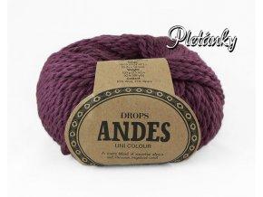 Příze Drops Andes uni colour 4090 - vřes