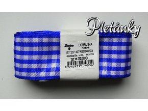 Stuha kostková 40 mm - modrá 340103 - 10 m