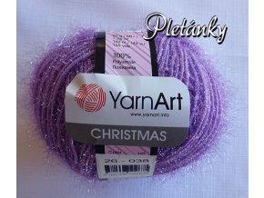 Příze Christmas 26 - světle fialová