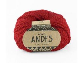 Příze Drops Andes uni colour 3620 - červená