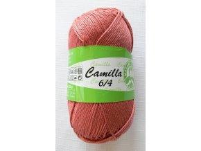 Příze Camilla 6/4, 5545 - vyrudlá