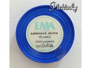 Stuha saténová 9 mm, 13 - sytě modrá