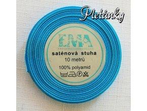 Stuha saténová 9 mm, 15 - kalifornská modř