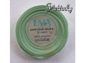 Stuha saténová 9 mm, 42 - ledová  zeleň