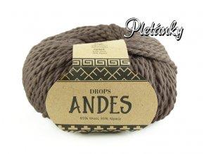 Příze Drops Andes uni colour 5310 - světlá hnědá