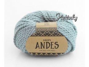 Příze Drops Andes uni colour 7120 - světlá šedozelená