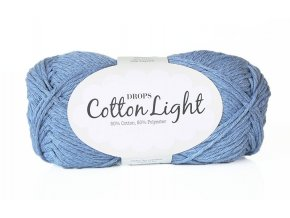 Příze DROPS Cotton light 34 - džínsová