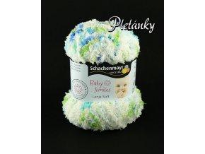Příze Baby Smiles Lenja Soft 00084 - bílá,modrá, zelenožlutá