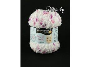 Příze Baby Smiles Lenja Soft 00081 - bílá, růžová