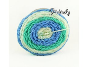 Sweet roll 1047-18/4775 - bílá, zelená, modrá