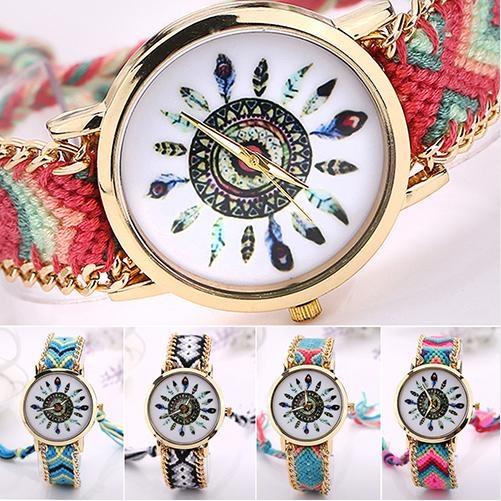 Dámské náramkové hodinky ve stylu pletených náramku