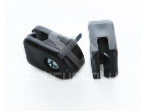 Příchytka na napínací drát - PVC černá, šroubovací + šroub