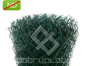 Poplastované pletivo 125 cm výška PVC; 60x60mm; 2,5mm bez ND