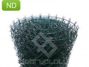 Poplastované pletivo 125 cm výška, 50x50 mm, 2,5mm s ND zelené