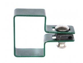 Držák plotového dílce na sloupek 60x40, koncový, zelený