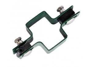 Držák plotového dílce na sloupek 60x40, průběžný, zelený