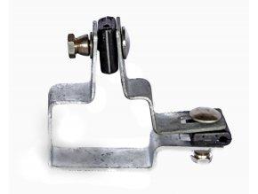 Držák plotového dílce na sloupek 60x40, rohový, zinkový